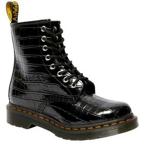 NEW DR MARTENS 1460 CROC EMBOSSED PATENT